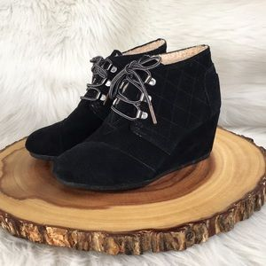 Toms faux fur lined booties